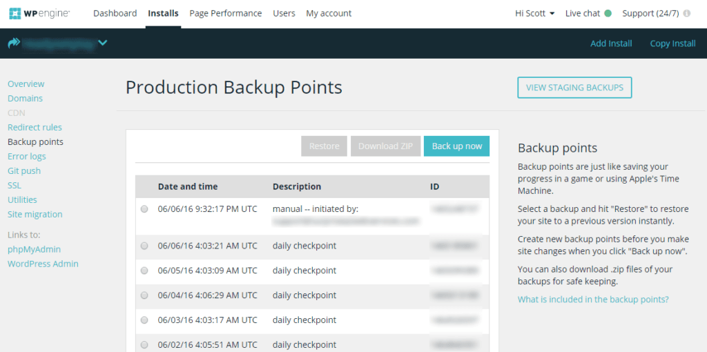 wp-engine-backup-points