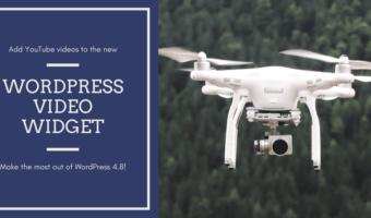 add YouTube videos to the new WordPress video widget