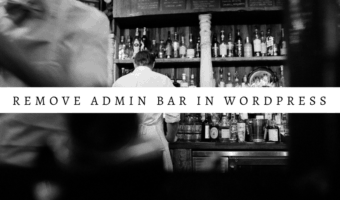 Remove admin toolbar in WordPress
