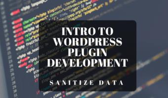 WordPress Plugin Development Sanitize and Validate Data