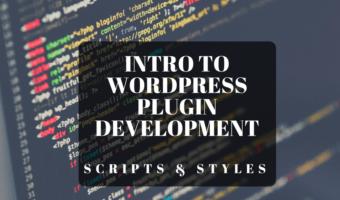 WordPress Plugin Development Loading Scripts and Styles