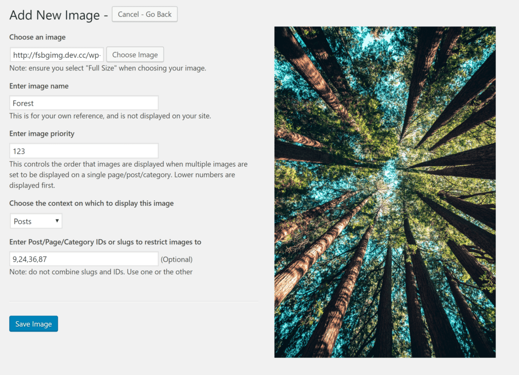 Add New Background Image in WordPress
