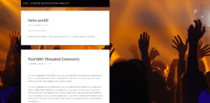 Add a background image in WordPress for concert or band