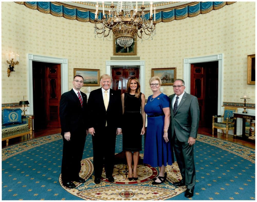 Scott DeLuzio, President Trump, Melania Trump, Diane DeLuzio, and Mark DeLuzio