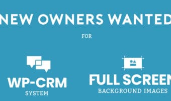 New Owners Wanted for WP-CRM System and Full Screen Background Images